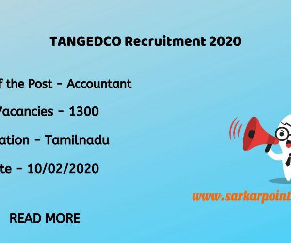 TANGEDCO Accountant Recruitment 2020