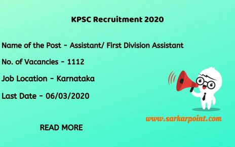 Karnataka Public Service Commission FDA Recruitment 2020