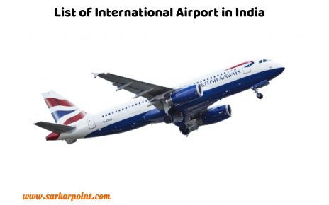 List of International Airport in India
