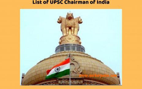 List of UPSC Chairman of India