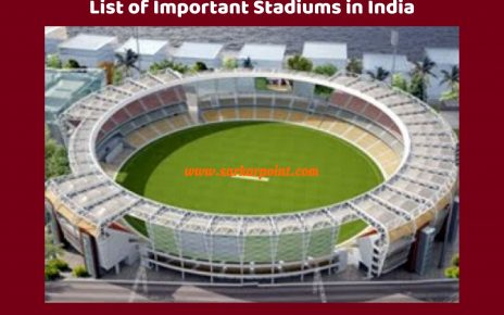 list of important stadiums in india
