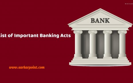 List of Important Banking Acts