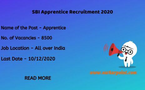 SBI Apprentice Recruitment 2020 Apply Online